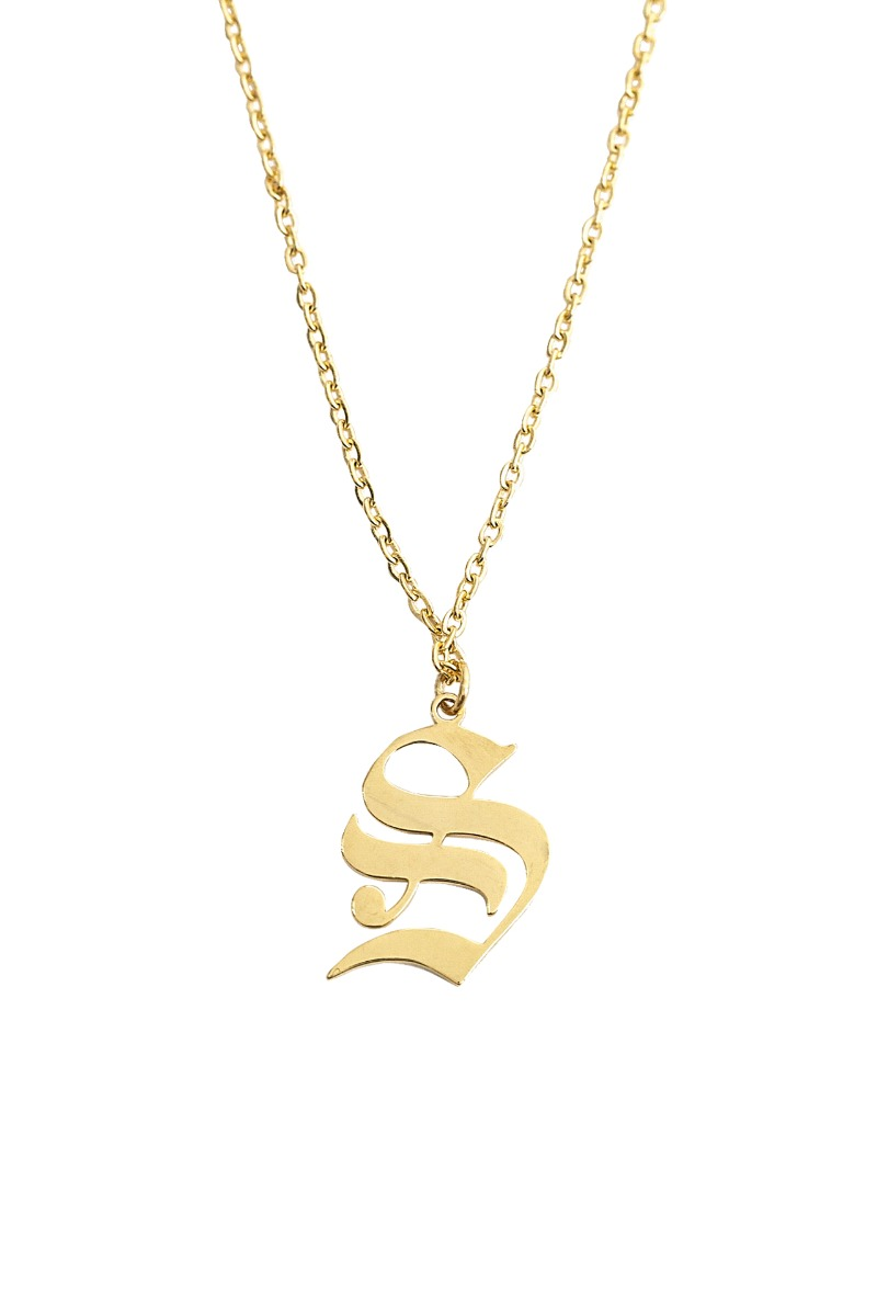 SPOONING ⌇ S LETTER GOTHIC NECKLACE